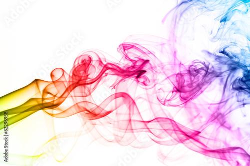 Colorful smoke clouds close up. - 62296958