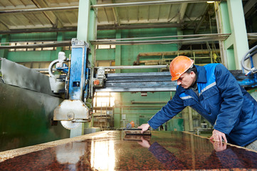 worker on granite manufacture