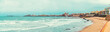 Panoramic view of Cadiz coastline. Southwestern Spain