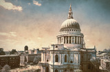 St. Paul's Cathedral in London, retro look
