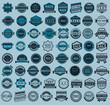 Racing badges - big blue set, vintage style - 62298559