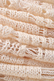 Stack of white knitted fabric