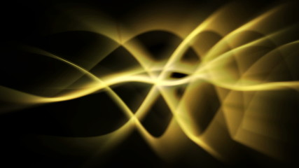 abstract energy background of yellow light waves - seamless