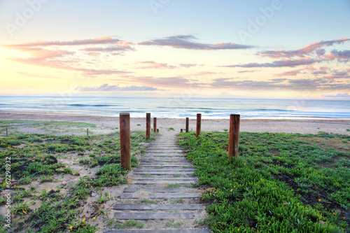 Path that refreshes the soul.  Beach sunrise Australia