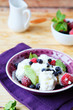 bowl of cottage cheese with berries