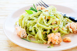 pasta with spinach and salmon
