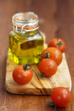 Olive oil and cherry tomatoes