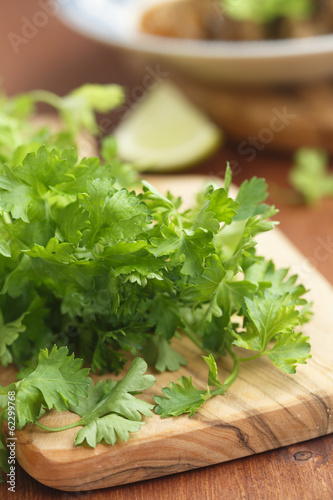 Parsley on desk