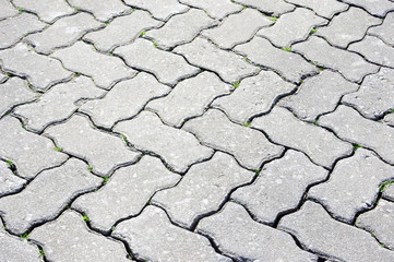 paving stone bricks on the floor
