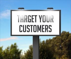 Target Your Customers Outdoor Billboard