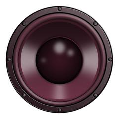 Speaker, Lautsprecher, Rot