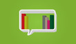 Bookshelf - speech bubble on background