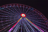 Ferris wheel in evening lights