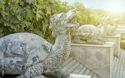 china turtle stone carving