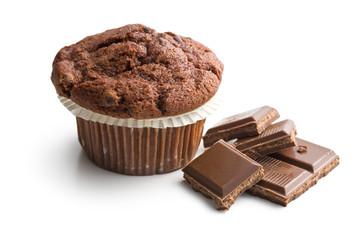 chocolate muffin with chocolate