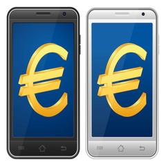 smartphone euro symbol