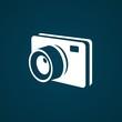 3D White camera icon