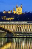 Saone river at Lyon by night