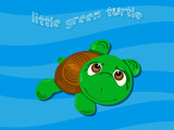 little turtle background