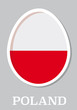 sticker flag of Poland in form of easter egg