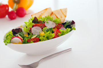 Deliciuos summer snack of fresh salad