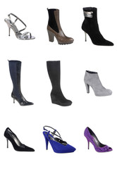 Women footwear isolated on white background