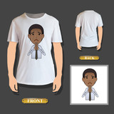 businessman pleading printed on shirt. Vector design
