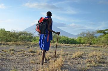 masaï et sa montagne sacrée