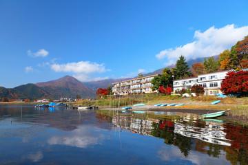 Lake kawaguchi in Japan
