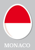 sticker flag of Monaco in form of easter egg