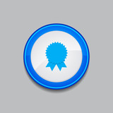 Medal Circular Vector Blue Web Icon Button