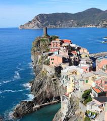 traditional Italian village at the Mediterranean