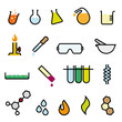 Colorful Chemistry Vector Icon Set