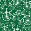 retro bicycle seamless pattern