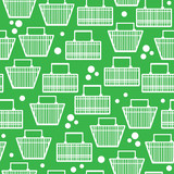 basket of goods seamless pattern