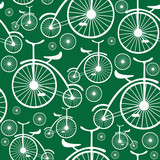 retro bicycle seamless pattern