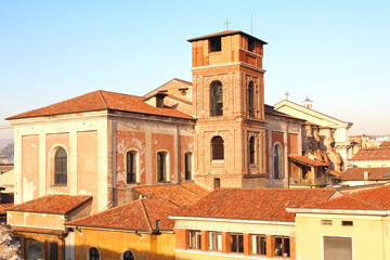 Church of Teatini or San Nicolo belltower in Verona, Italy
