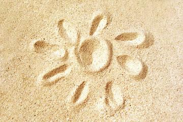 Soleil dans le sable