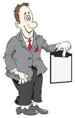Cartoon manager and clipboard