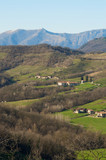 Brianza panoramic view from Montevecchia , Italy