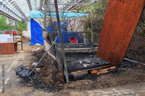 Burned bed