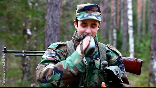 Recruit with optical rifle  in the forest episode 6