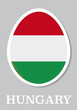 sticker flag of Hungary in form of easter egg