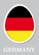sticker flag of Germany in form of easter egg