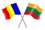 Flags: Romania and Lithuania