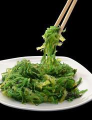 Comida japonesa,algas,wakame.