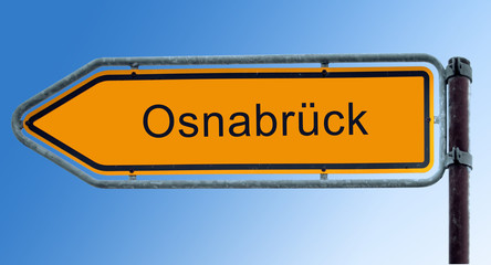 Strassenschild 7 - Osnabrück