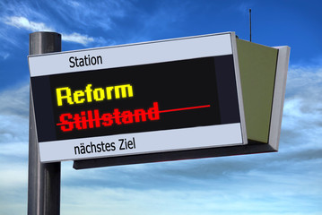 Anzeigetafel 3 - Reform