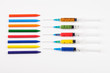 Colorful syringes with more crayons