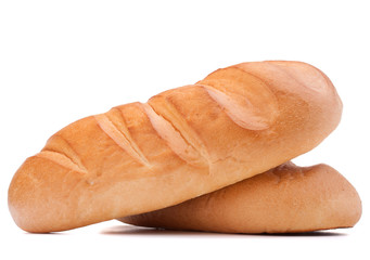 fresh bread isolated on white background cutout